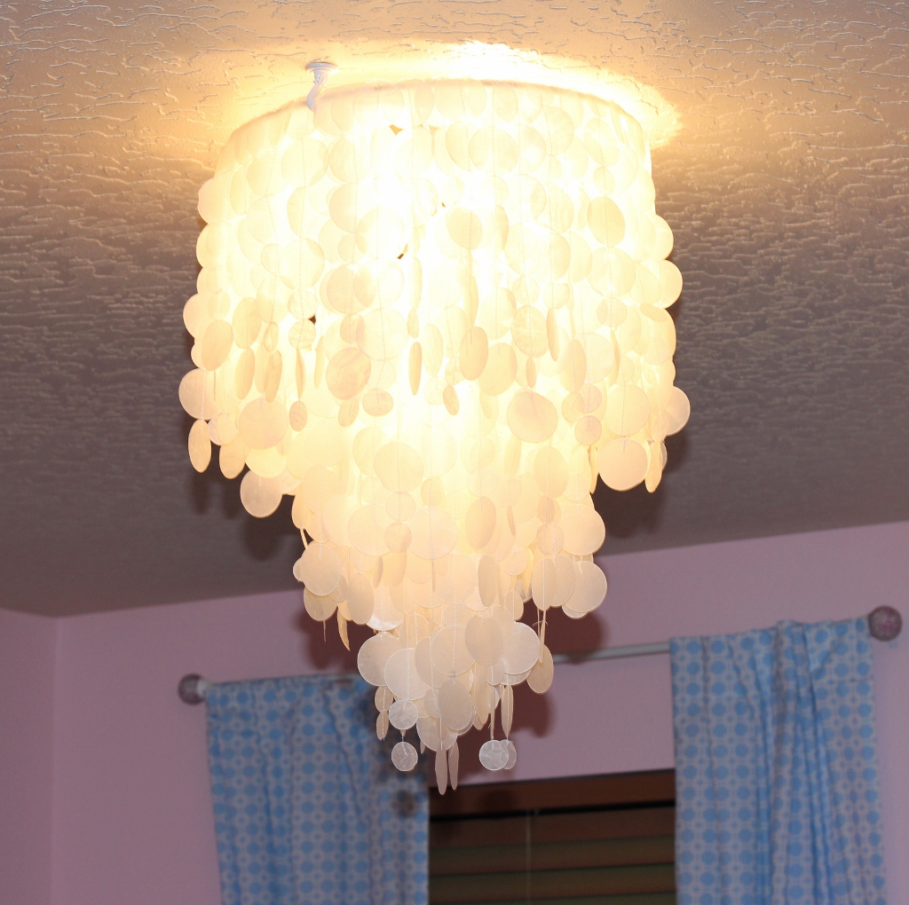 Making House A Home Diy Faux Capiz Shell Chandelier