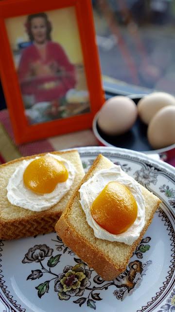 Fanny Cradock Egg on Toast
