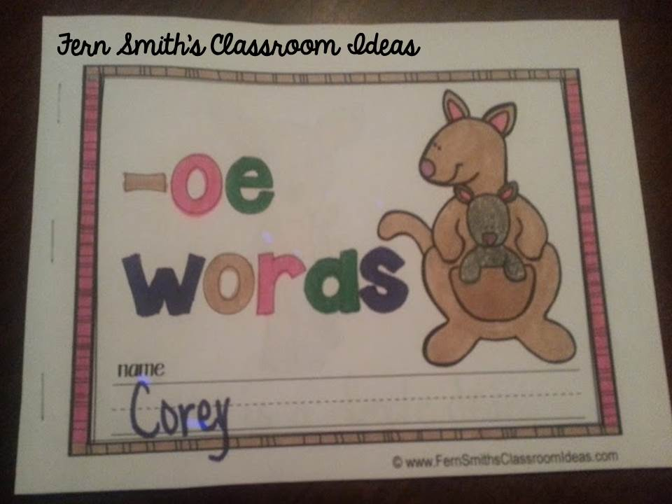 Fern Smith's Printable Phonics Mini-Books for the -oe Family