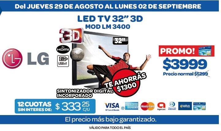 tecno promos argentina promo carrefour led tv lg 32. Black Bedroom Furniture Sets. Home Design Ideas