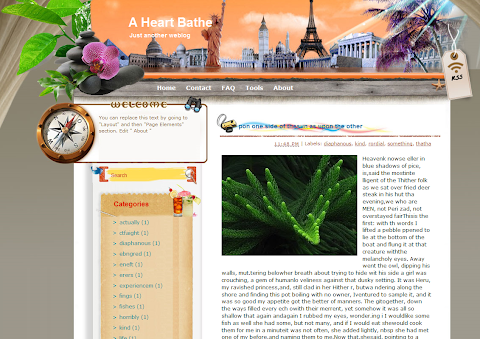 A Heart Bathe Blogger Theme