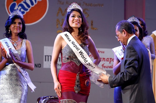 Miss Nepal 2013 winner Ishani Shrestha