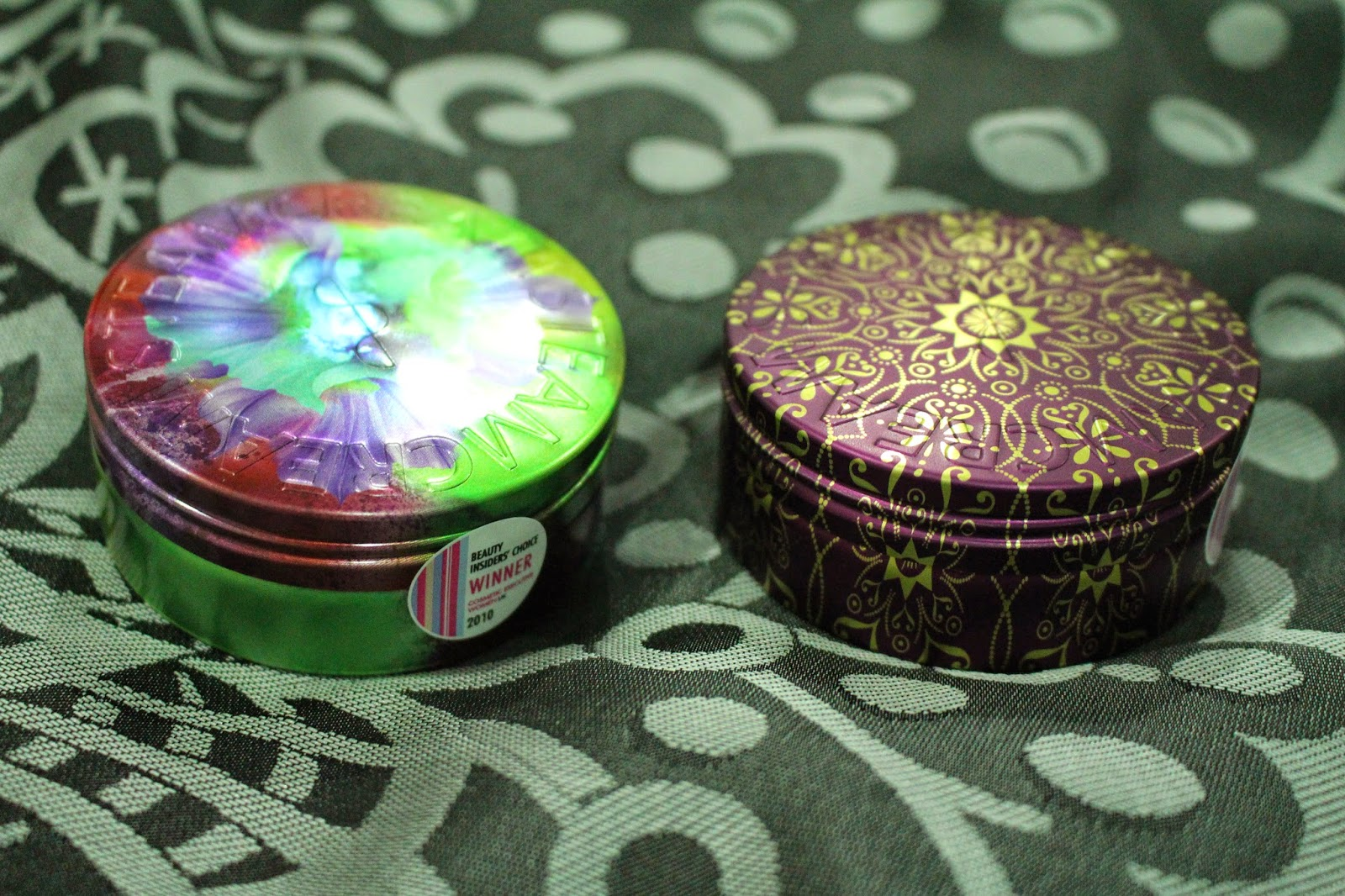 Steamcream in Envy Tin and Ekaterina Tin