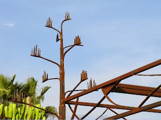 "estructura de pergola de acero ""agave"", fc, spain"