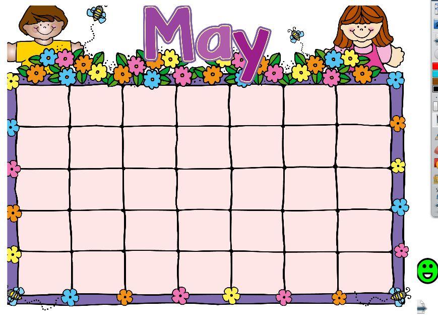 Kindergarten Calendar For Promethean Board : Promethean board calendar linky party little priorities