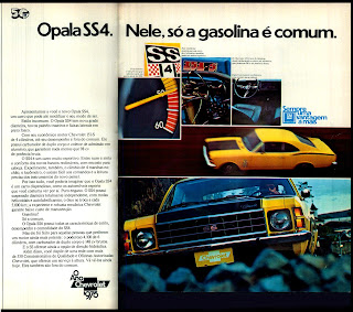 propaganda Chevrolet Opala SS4 - 1975. brazilian advertising cars in the 70. os anos 70. história da década de 70; Brazil in the 70s; propaganda carros anos 70; Oswaldo Hernandez;