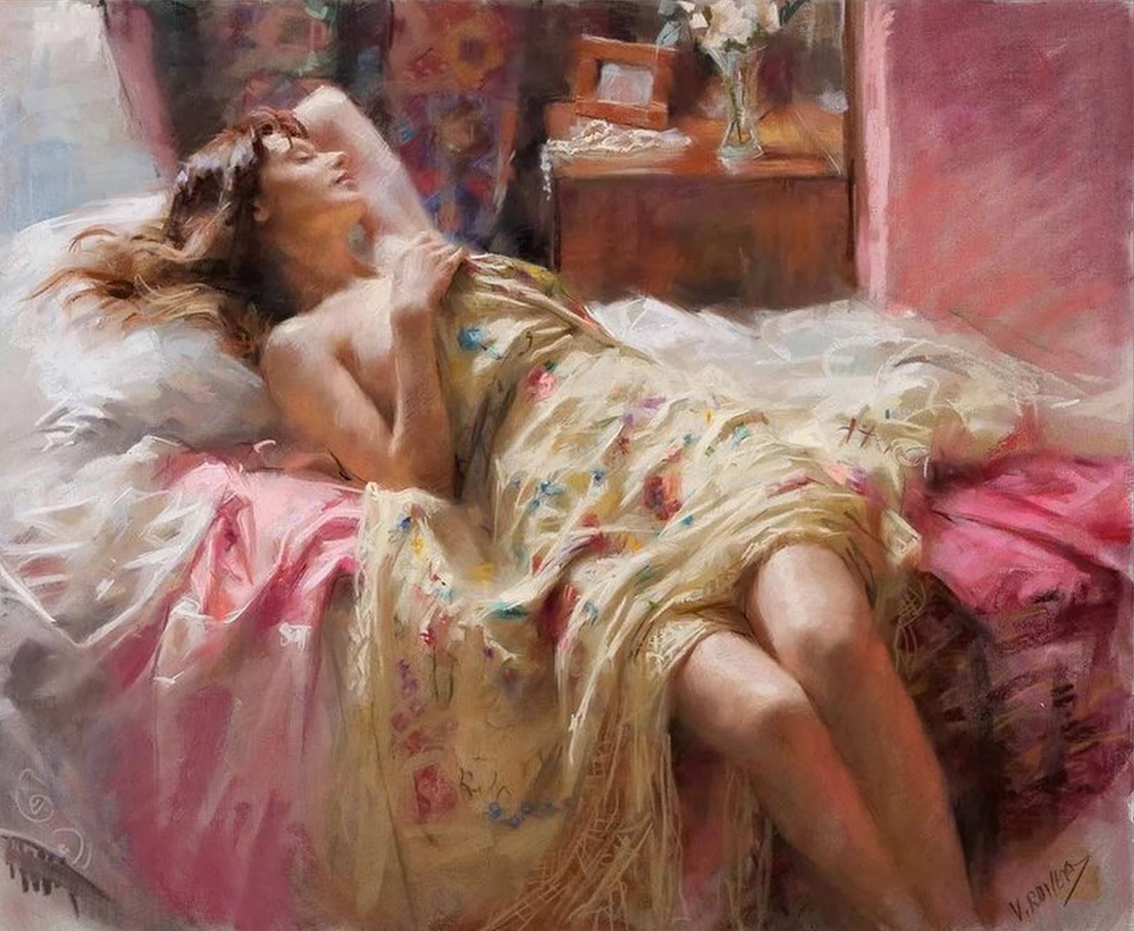 mujeres-dormidas-cuadros-al-oleo