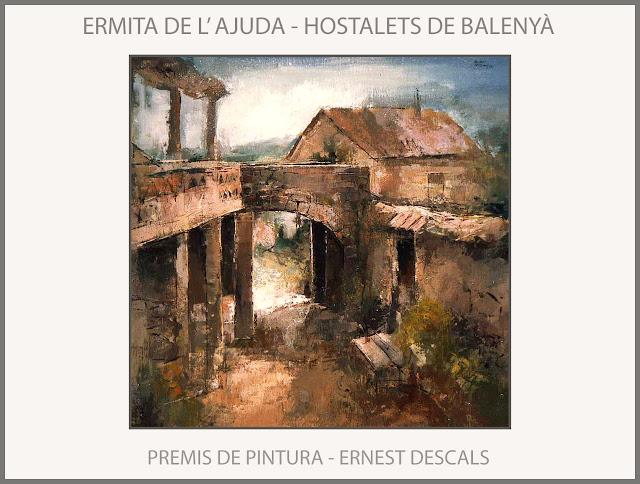 HOSTALETS DE BALENYA-PINTURA-ERMITA-AJUDA-PREMIS-PAISATGES-PINTURES-CATALUNYA-PINTOR-ERNEST DESCALS