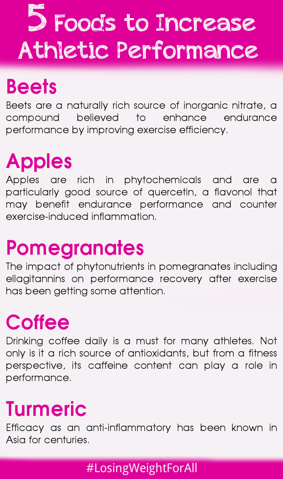 5 Foods to Increase Athletic Performance