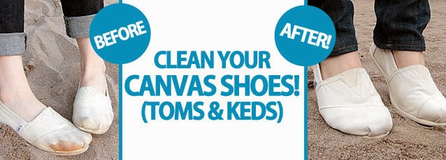how to get canvas shoes clean