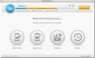PhoneClean to clean iPhone for Mac And Windows