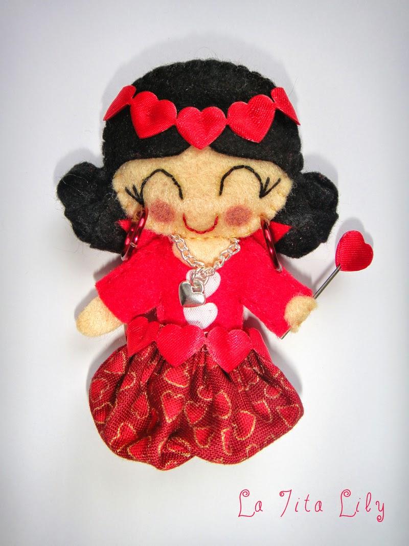 Broche Reina de corazones