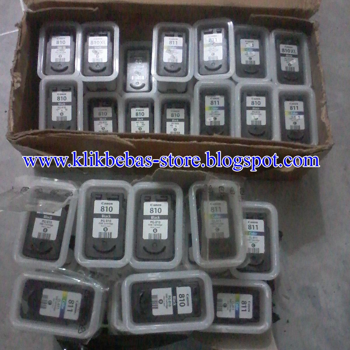 Informasi Update Klikbebas Ready Cartridge Kosongan Original 810 811 Canon Black Ori