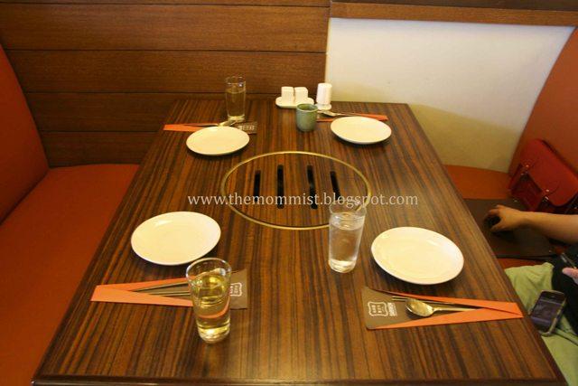 Sariwon Korean Barbecue table setting