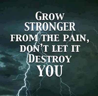 Grow stronger from the pain, Don't let it destroy you.