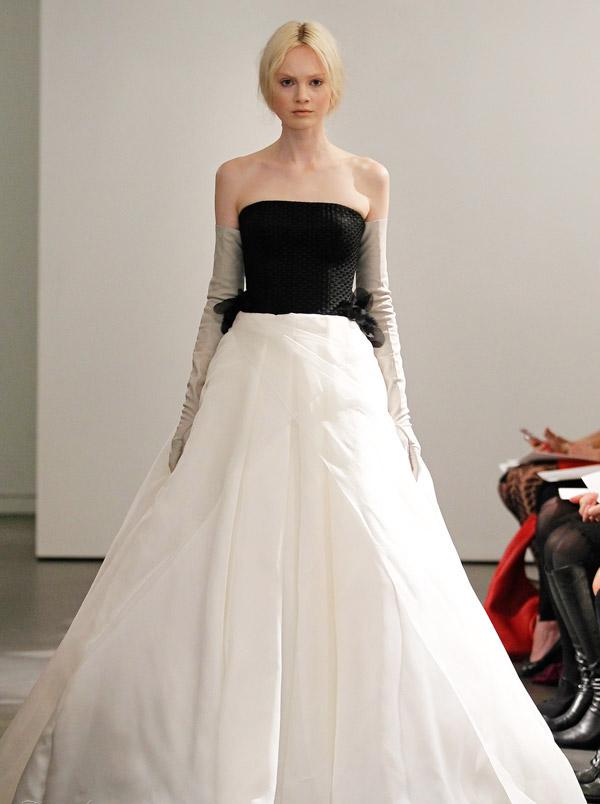 cheap wedding gowns online blog black white vera wang 2014 wedding