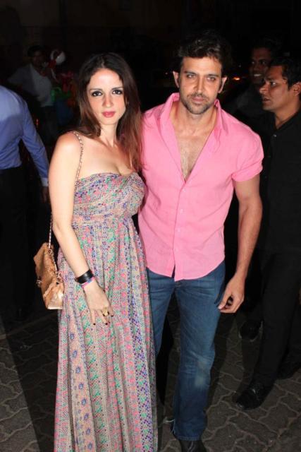 Hrithik & Sussane Roshan at a Birthday Bash!
