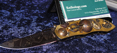 Steam punk knife at Glass City Knife show