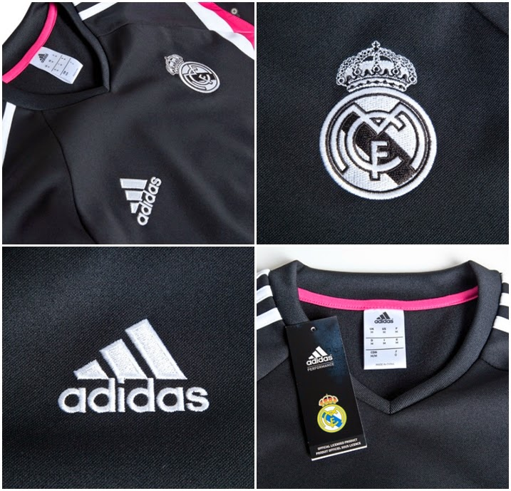 Detail READY STOK SWEATER REAL MADRID 2014-2015