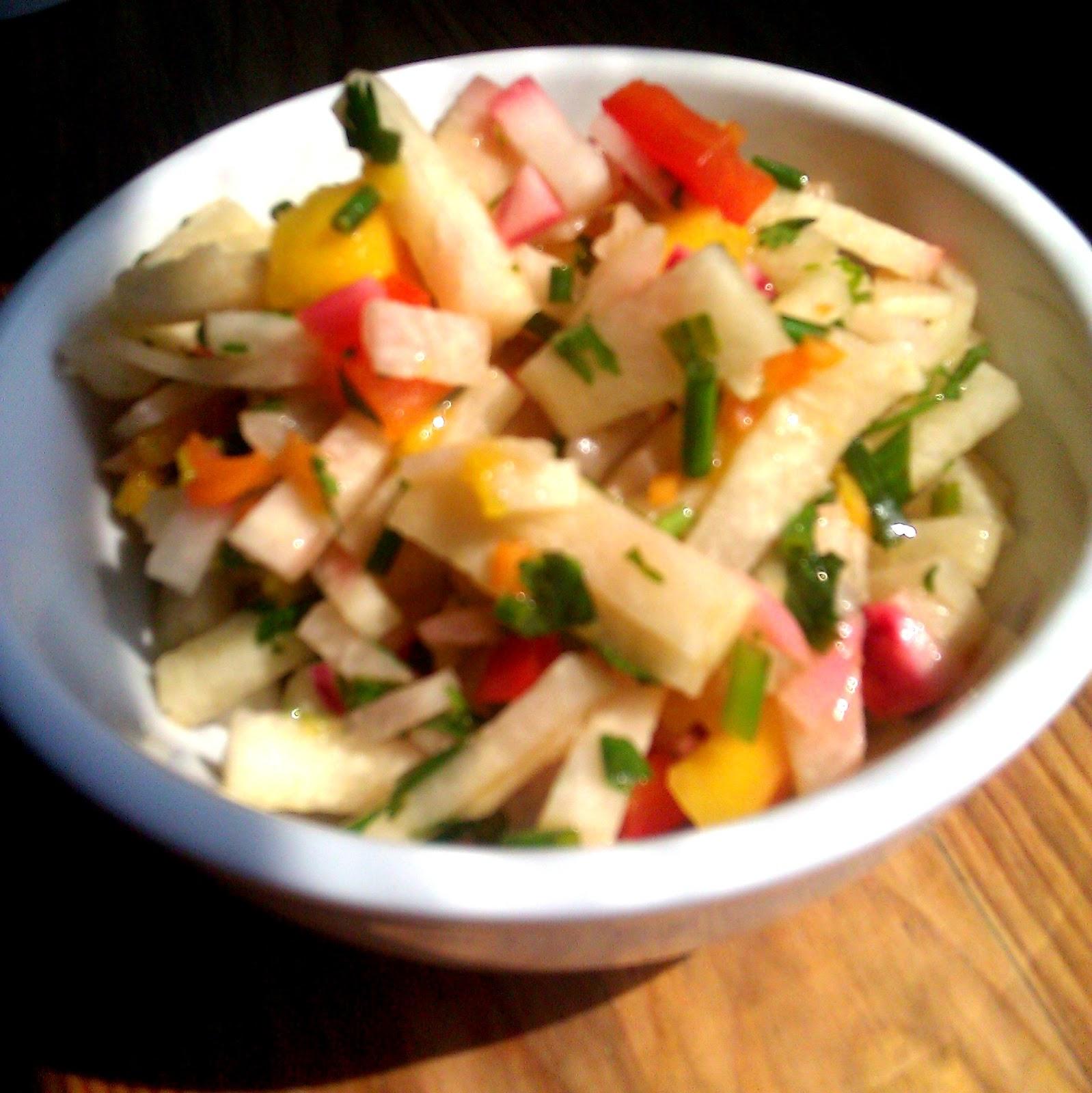Accidentally Meatless: Recipe: Asian Jicama-Mango Salad