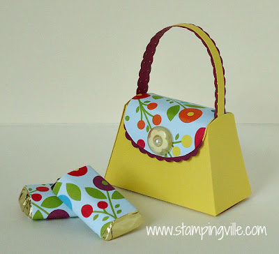 Petite Purse with Coordinating Paper Wrapped Chocolate Nuggets