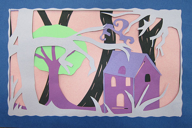Construction Paper Art Projects High School