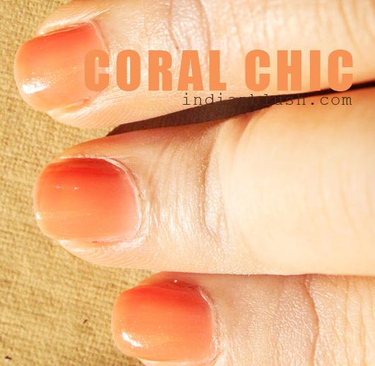 Colorama Nailpolish Coral Chic shade swatches