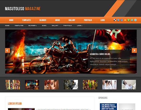 Masutoliso Magazine Blogger Theme
