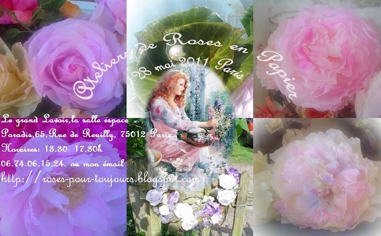 Atelier de roses à Paris......