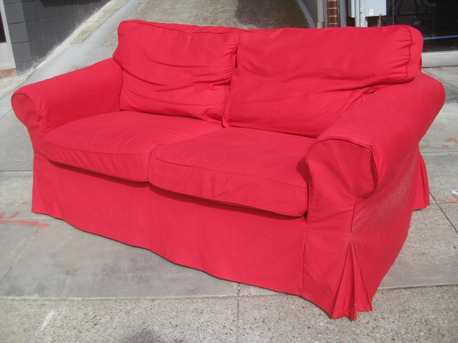 UHURU FURNITURE COLLECTIBLES SOLD Red Ikea Sofa 120