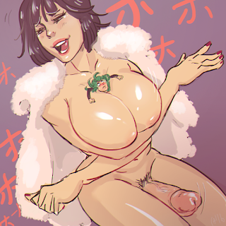 giantess fubuki opm tormanting her sister titjob