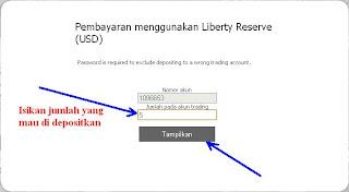 cara deposit instaforex