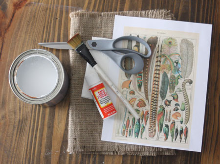 The Graphics Fairy - DIY: DIY weathered and feathered Table Runner