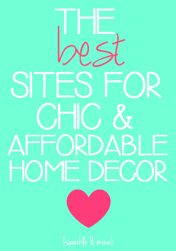 Sparkle mine the best sites to shop for chic and for Cheap home decor sites