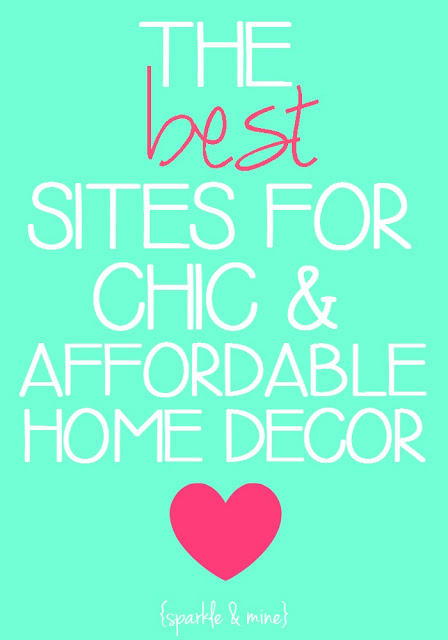Sparkle mine the best sites to shop for chic and for Affordable home accents