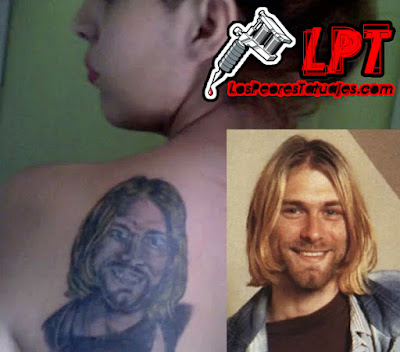 Tatuaje FAIL : Kurt Cobain
