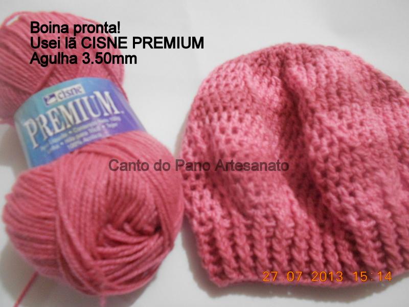Canto do Pano Artesanato  Boina ou Gorro Infantil em Crochê com PAP-Receita 93ad93b7f92