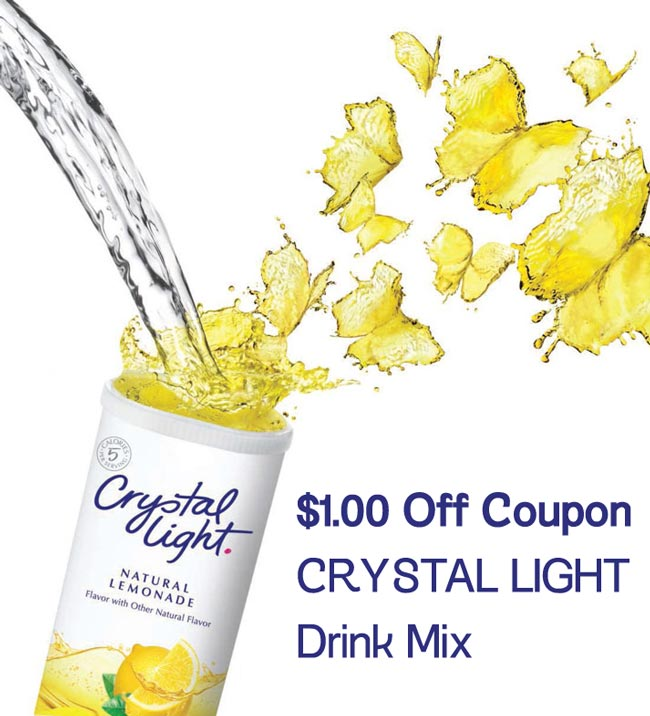 Kraft Crystal Light Drink Mix Coupons Printable