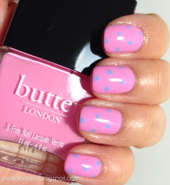 butter london fruit machine floral nail stamping