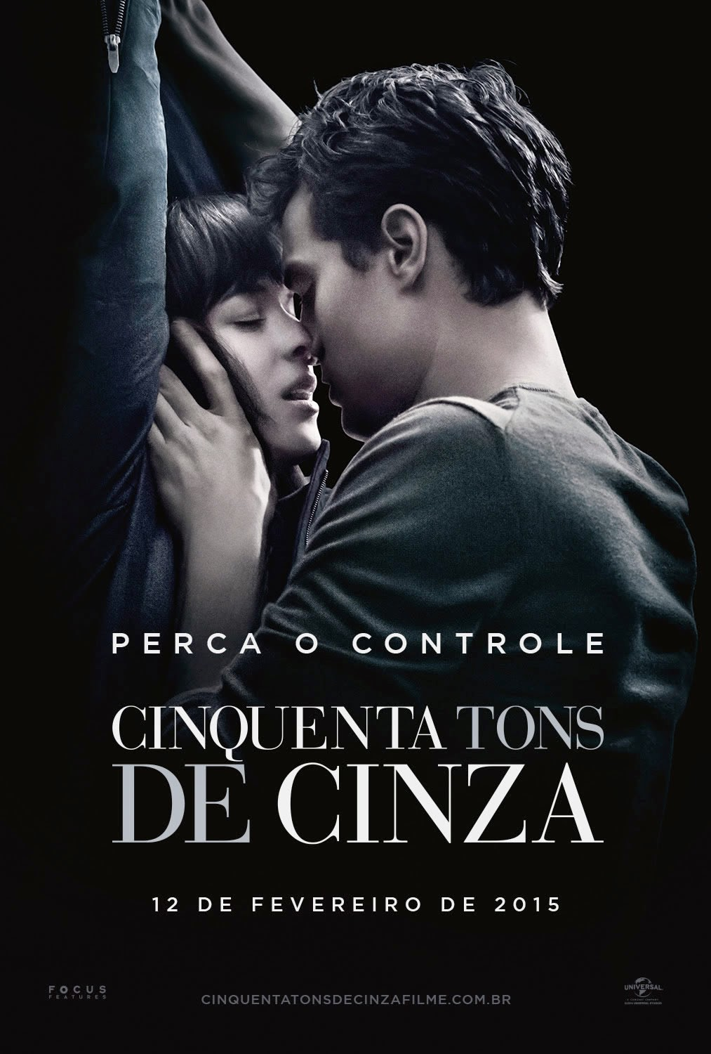 Pôster/capa/cartaz nacional de CINQUENTA TONS DE CINZA (Fifty Shades of Grey)