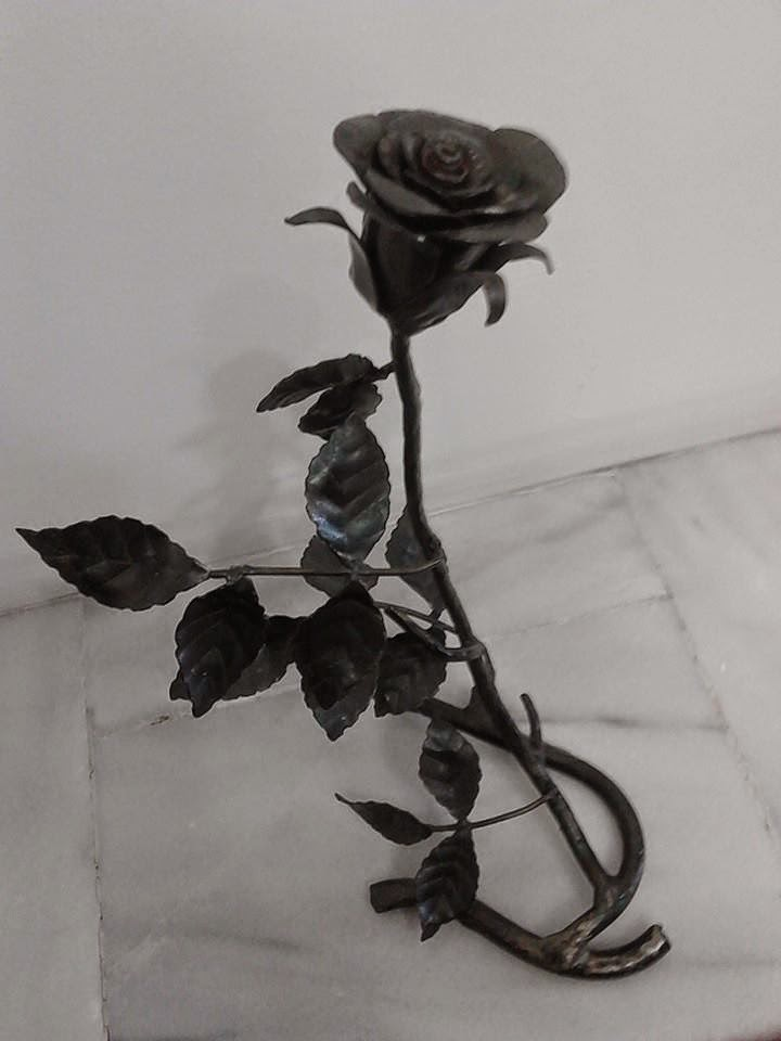Σιδερένιο Χειροποίητο Τριαντάφυλλο