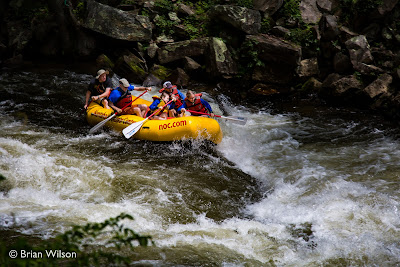 Rafters on the Nantahala River