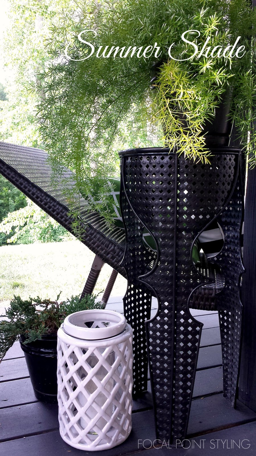 Spectacular FOCAL POINT STYLING Easy Outdoor Decorating Mixing Old u New Deck Decor