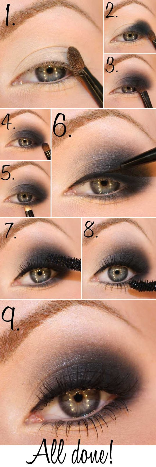 40+ Stunning Shimmery Smokey Eye Makeup DIY Tutorials