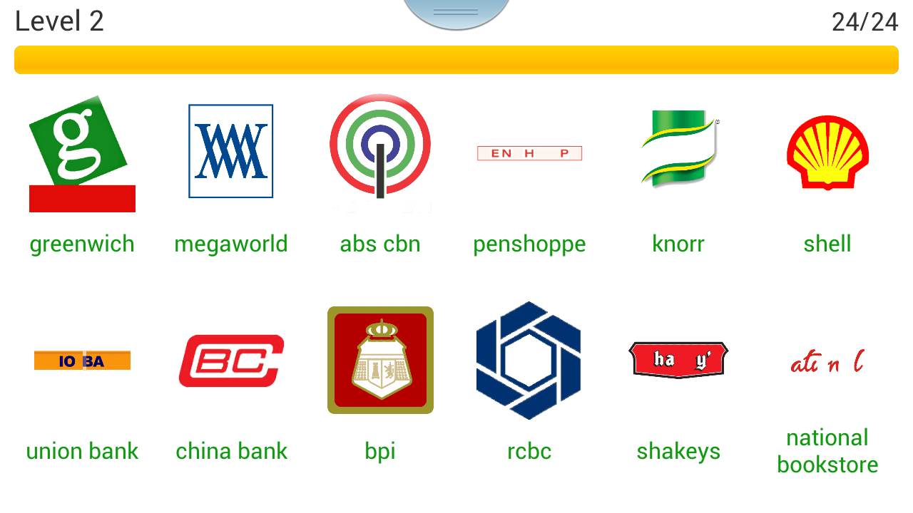 Logo quiz philippines level 2 page 1 cheat sheet