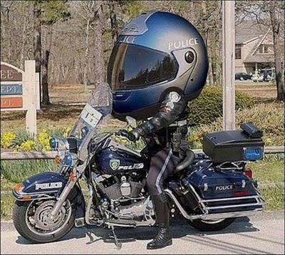 Funny Motorcycle Cop