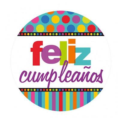Feliz cumpleaños círculo colorido