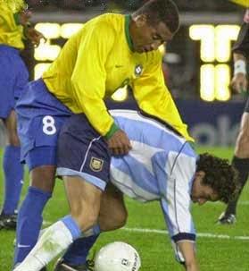 smešna slika: intiman trenutak u fudbal