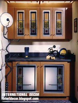 stained glass doors for kitchen cabinets