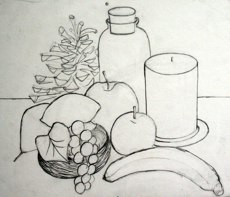 Simple Still Life Drawing Fruit | www.imgkid.com - The ...